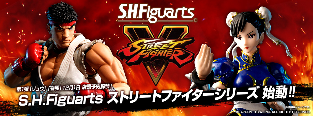 "S.H.Figuarts ""STREET FIGHTER"" series will come! Ryu and Chun-Li are up for pre-order at stores in Japan!"